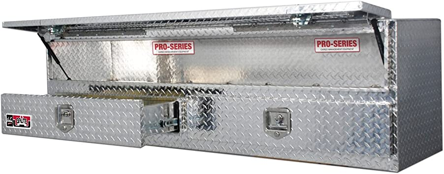 Brute 80-TB400-72-BD Pro Series 72 High Capacity Stake Bed Contractor Polished Aluminum Tool Box with Bottom Drawers