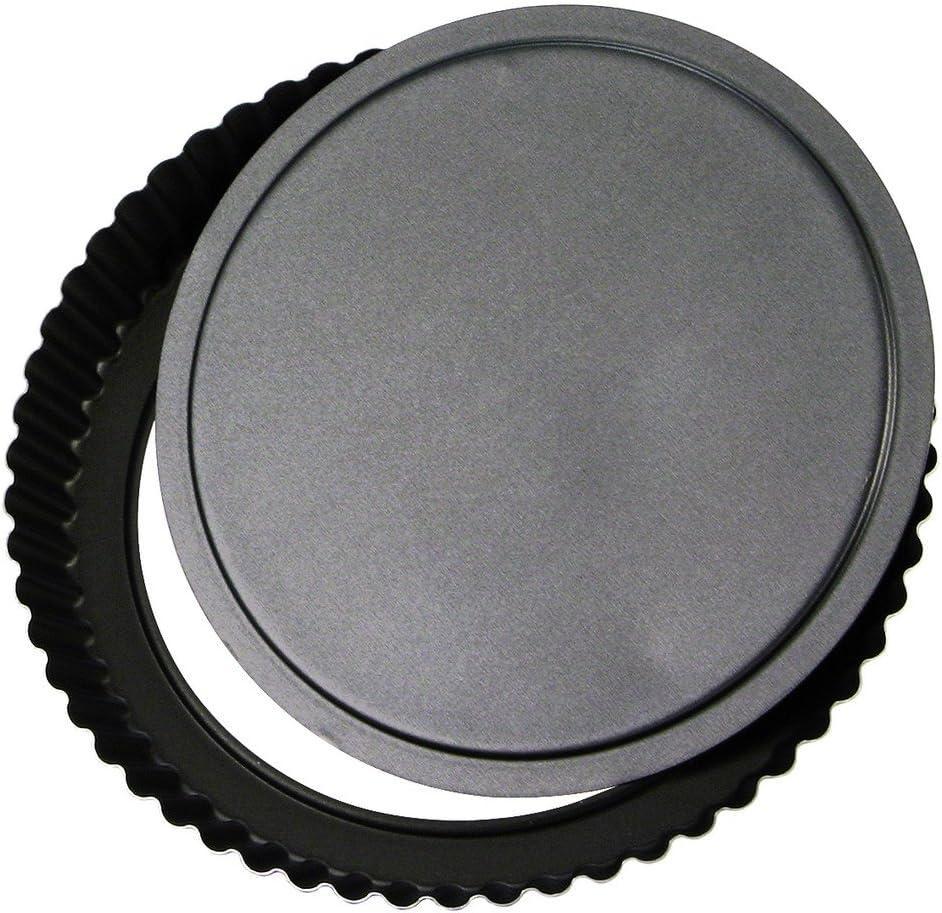 kanneliert /Dulce 24 cm schwarz herausnehmbarer Boden/ Grilo Tarteform