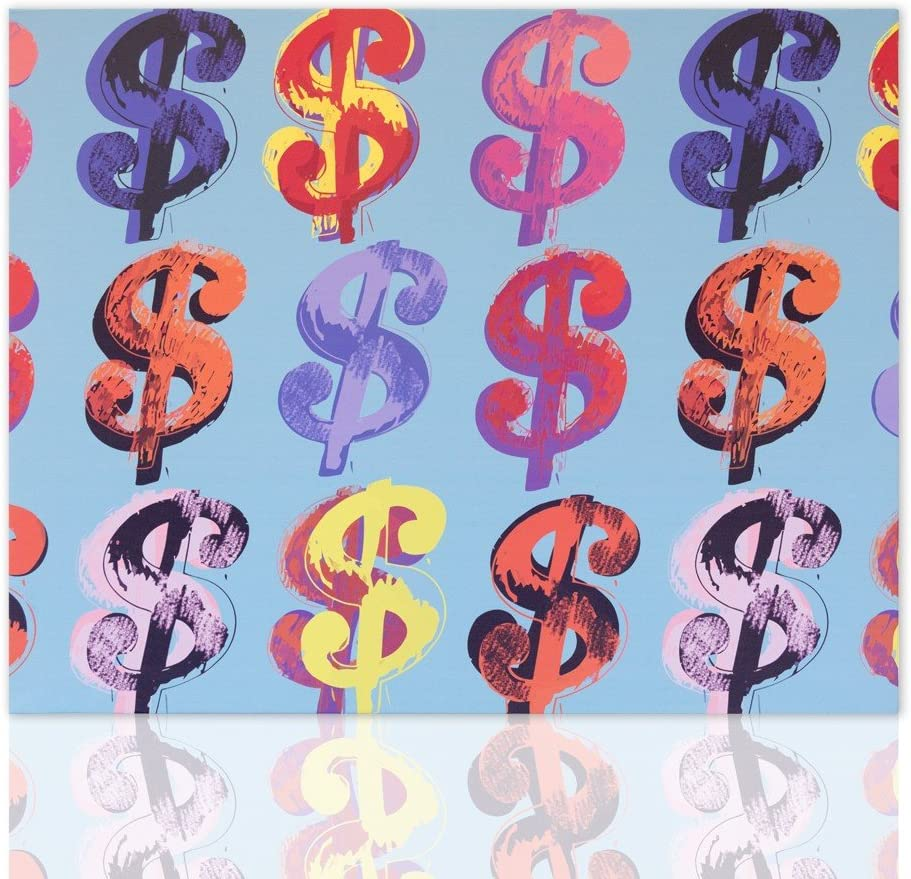 Canvas Print Reproduction Reproduction Of Andy Warhol Dollar Sign Interiors Of Canvas Pop Art Painting On Canvas Ready To Hang Modern Decoration Available In Various Sizes Declea Amazon Co Uk Kitchen