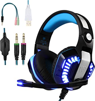 BlueFire Cascos para Xbox One PS4, Auriculares Gaming Bajo ...