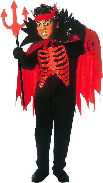 Widmann 38456 Kinderkostum Teufel Jungen Rot Schwarz 128 Cm