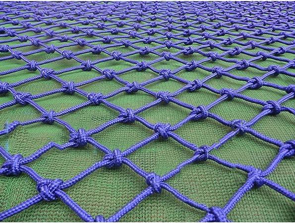 Red de soga de jardín red de seguridad red de carg Red de cerco azul decoración
