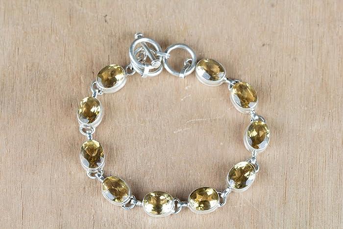 2b65aaec56ab9d Genuine Citrine Bracelet, Sterling Silver Bracelet, Birthstone Bracelet,  Yellow Gemstone Bracelet, Birthday Gift, Relationship Bracelet, Girl friend  Gift, ...