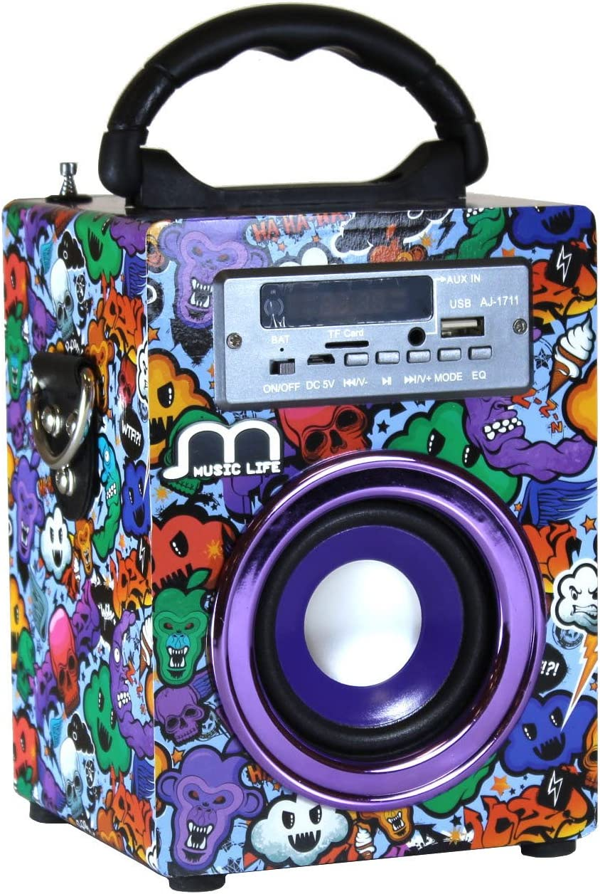 Music Life Altavoz Karaoke Bluetooth Portátil Inlámbrico USB Tarjeta TF Recargable con Radio FM (200-3)