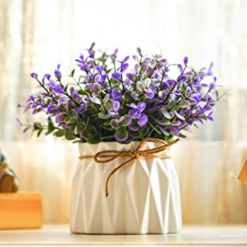 Amazon artificial flower kigali purple real touch home artificial flower kigali purple real touch home decorations for bridal wedding bouquet birthday flowers bunch hotel junglespirit Image collections