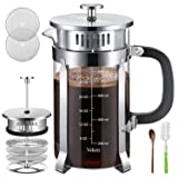 Veken French Press Coffer Tea Maker (34 oz), 304