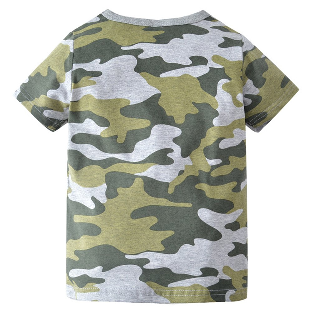 67d4ab3e Amazon.com: Kids Camouflage T-Shirts Childs Classic Woodland Camo Shirt  Little Boys' Camo Short Sleeve Crew Tee, (2T-7T): Clothing