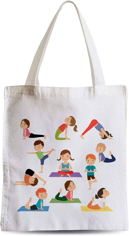 Fabulous Grand Sac Shopping Plage Etudiant Yoga Enfants Posture Hatha Yoga Asanas Meditation