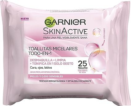 Garnier Skinactive - Toallitas Desmaquillantes Todo-en-1, 25 ...