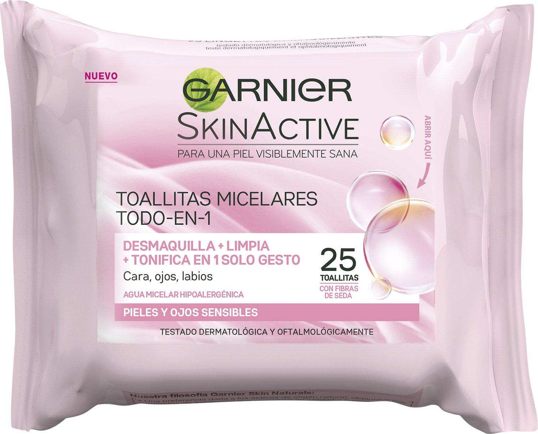 Garnier Skin Active Toallitas Micelares Desmaquillantes - 25 toallitas: Amazon.es: Amazon Pantry