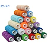 Tong 30 Colour Spools Sewing Thread 250 Yards Each Polyester All Purpose for Hand and Machine Sewing