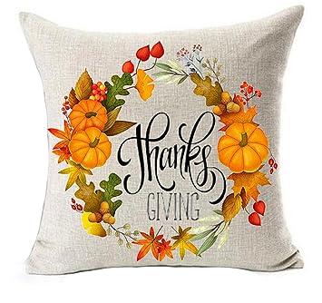 Amazon.com: Happy Thanksgiving Day Planta Flores Hoja de ...
