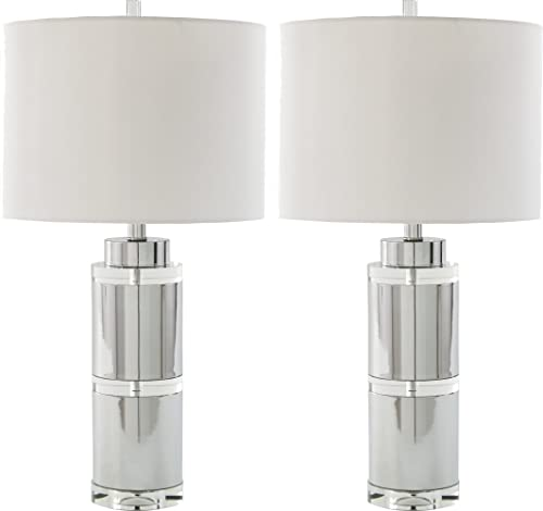 Signature Design by Ashley – Makram Table Lamps – Modern Style – Clear Chrome