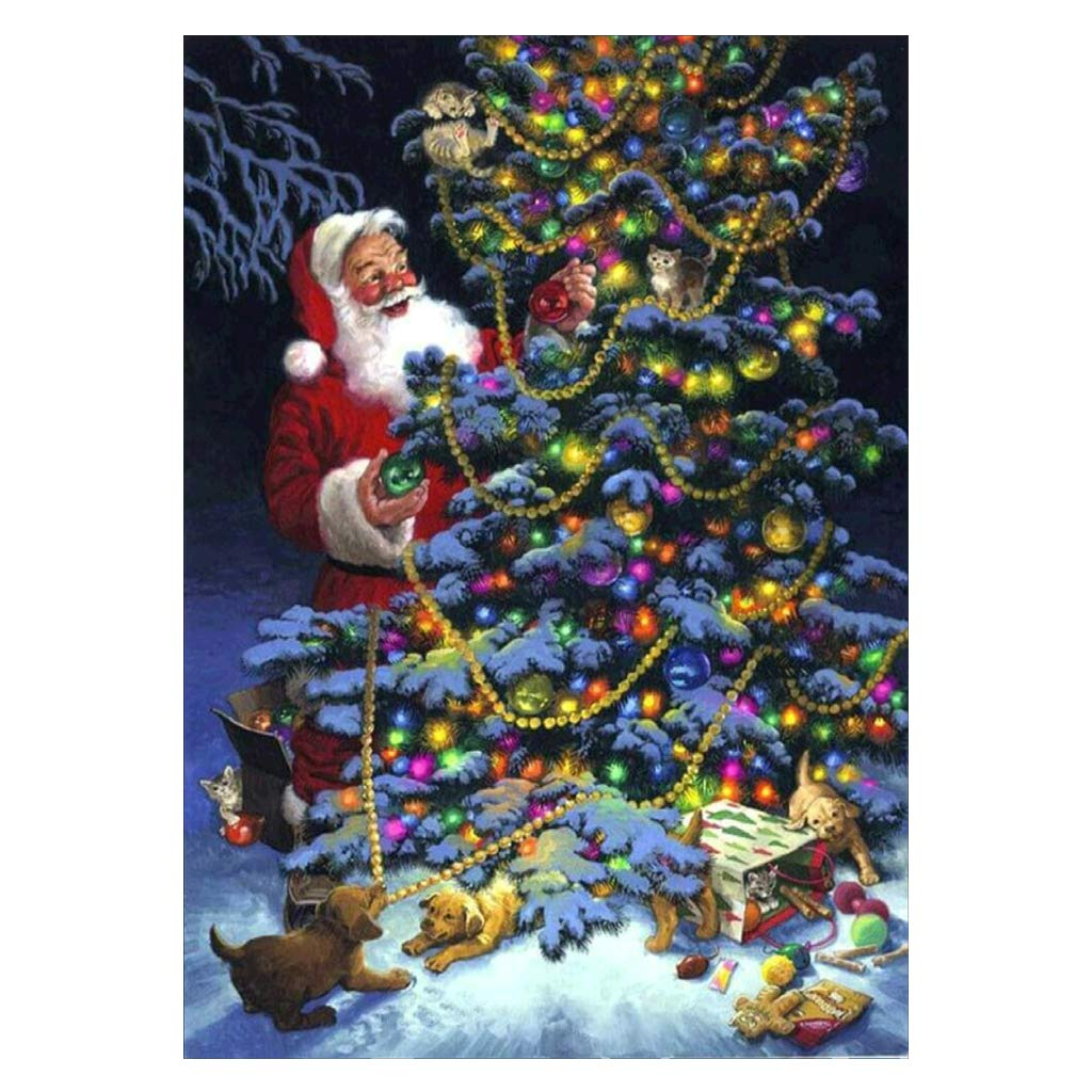 5D DIY Full Diamond Painting, Shoresu Santa Claus DIY Painting Kit Painting by Numbers Diamonds Embroidery Painting Cross Stitch Kit DIY Home Decor
