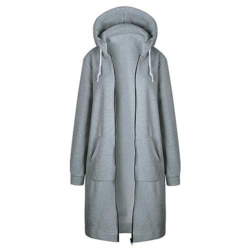 Misschicy - Abrigo - Básico - Manga Larga - para mujer gris gris claro