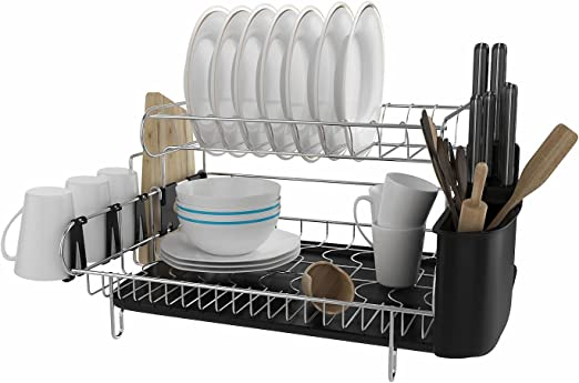 Amazon Com Cosway 2 Tier Dish Rack And Drainboard 304 Stainless
