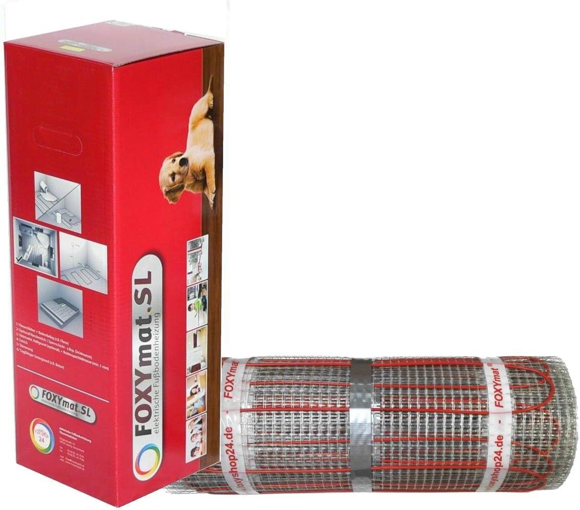 8.0 m/² 200 Watt pro m/²,f/ür die schnelle Erw/ärmung ohne Thermostat FOXYSHOP24-elektrische Fu/ßbodenheizung PREMIUM MARKE FOXYMAT.SL RAPID 0.5m x 16m
