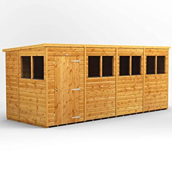Power Sheds 16x6 Pent Wooden Garden Shed Size 16 X 6 Super