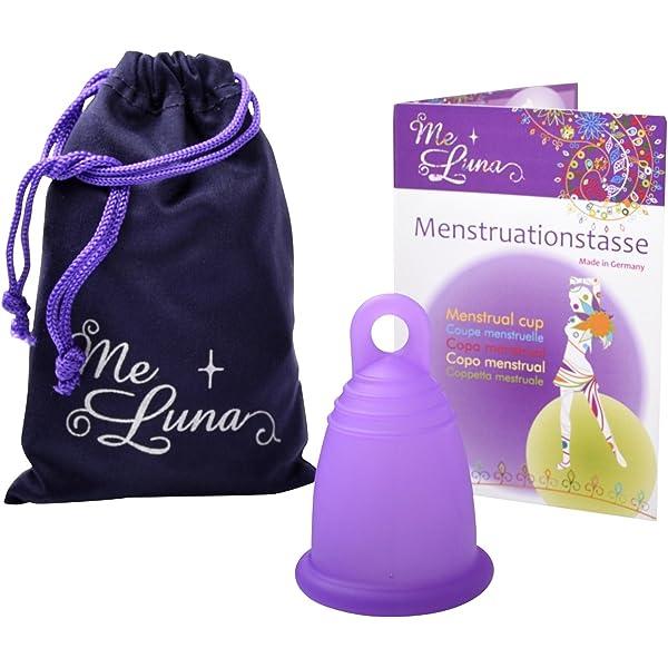 Me Luna Anillo clásico de copa menstrual pequeño morado (sin ...
