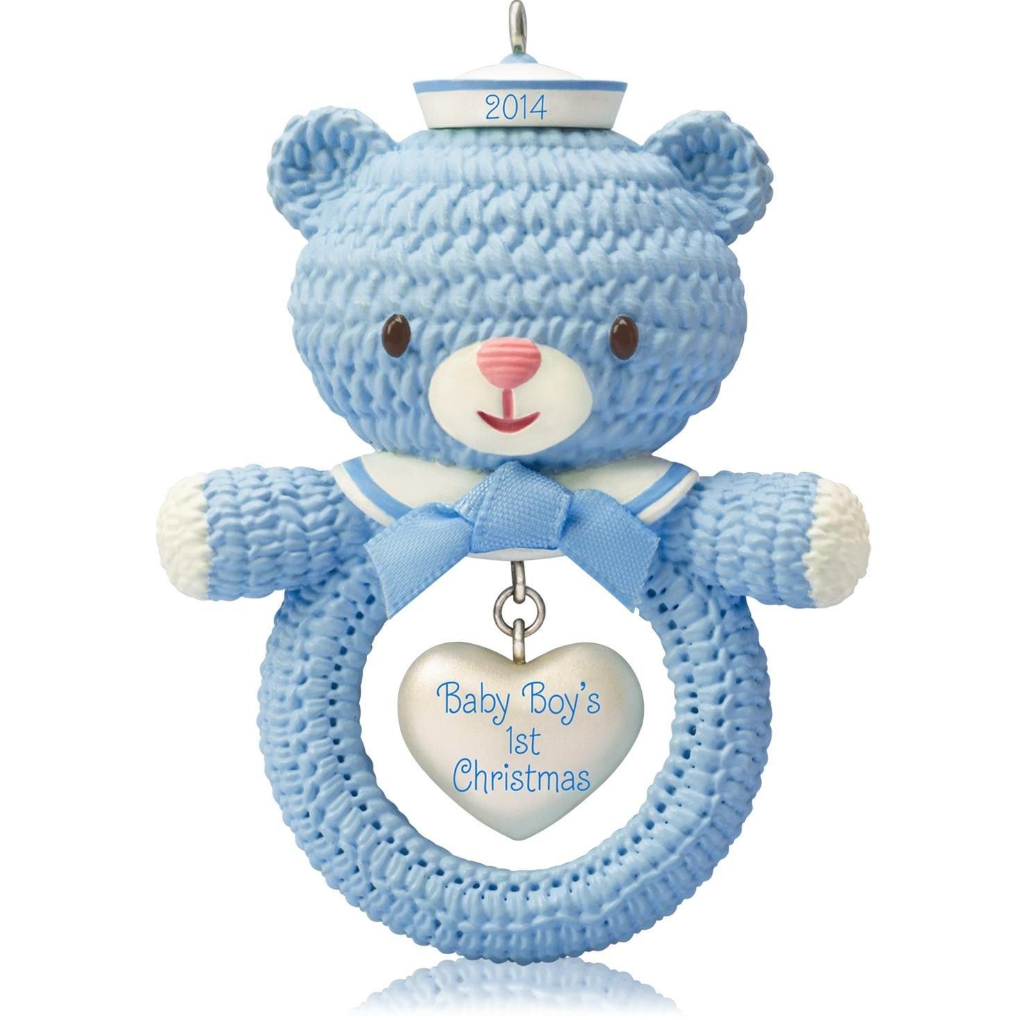 Amazon.com: 1 X Baby Boy's First Christmas - 2014 Hallmark ...