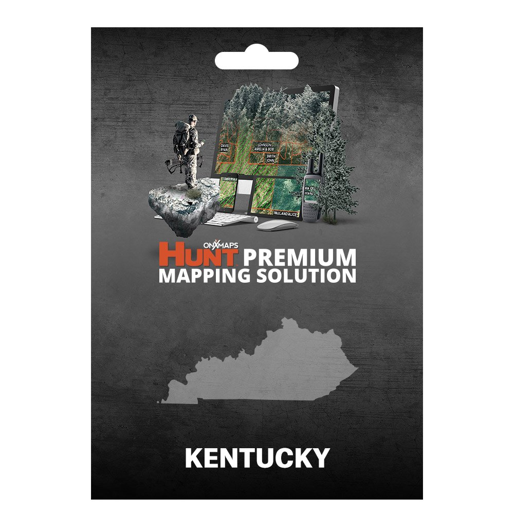 onXmaps HUNT Kentucky: Digital Hunting Map For Garmin GPS + Premium Membership For Smartphone and Computer - Color Coded Land Ownership - 24k Topo - Hunting Specific Data