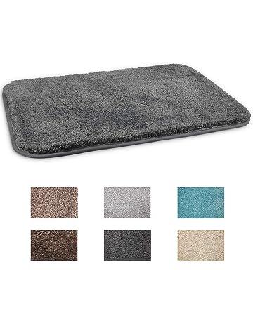 tapis de douche pour la douche ou la baignoire tapis antid/érapant avec ventouses doux et rembourr/é blanc mDesign tapis de baignoire anti-glisse