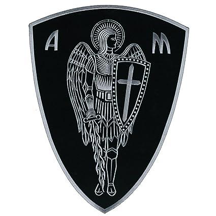 vegasbee® Gran Arcángel St. Michael motorista de protección de cruz cristiana escudo bordado parche