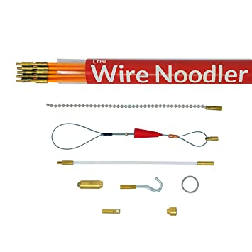 Most Complete Wire and Cable Pulling Fish Tape Kit Includes Rod, Wire Noodler
