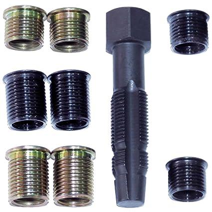 M12 bujías Werkzeug Juego de reparación de rosca de la manga de rosca kit de reparación