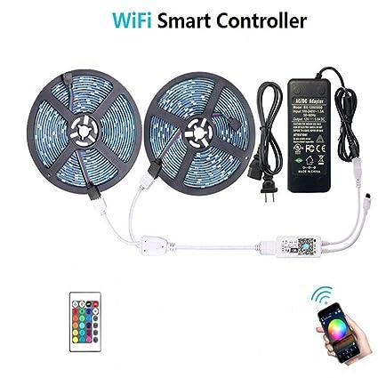 WenTop Waterproof LED Strip Lights, WiFi Wireless Smart Phone Controlled UL RGB LED Light Strip