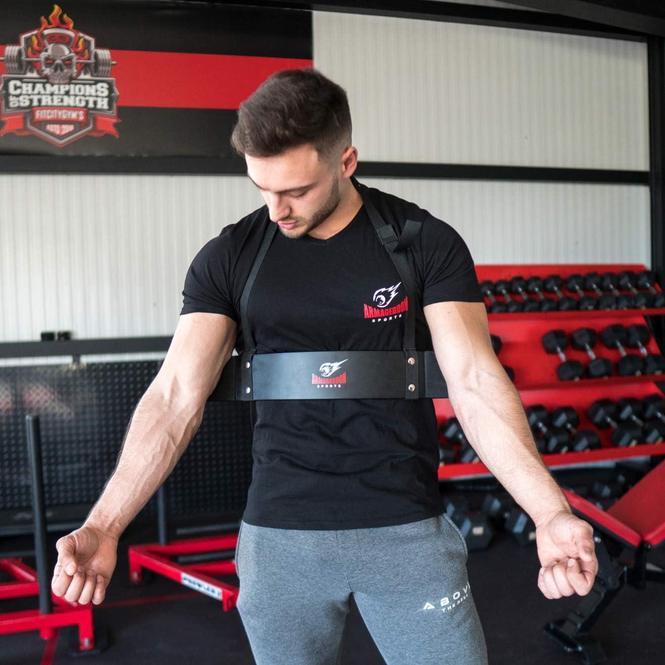 Premium Arm Blaster + BONUS Premium Lifting Straps, Biceps Aislador Blaster Bomber Levantamiento de Pesas Arm Curl