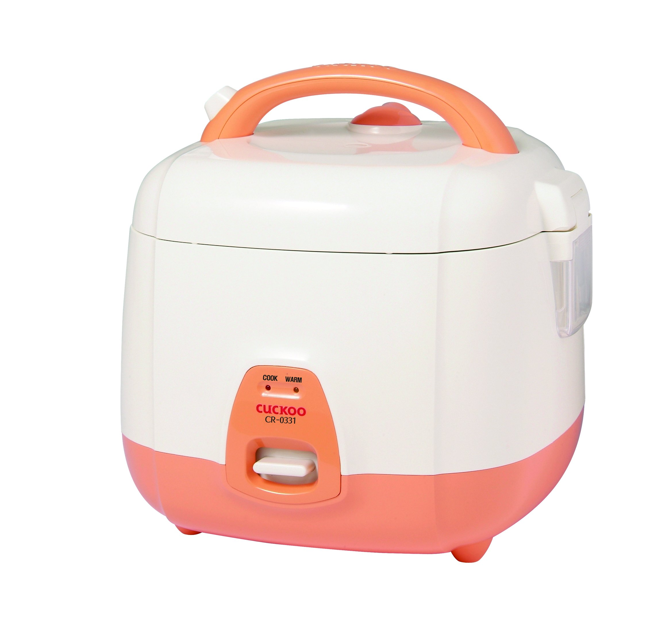 Cuckoo CR-0331 Rice Cooker, 3 Cups Uncooked (1.5 Liters / 1.6 Quarts), Orange