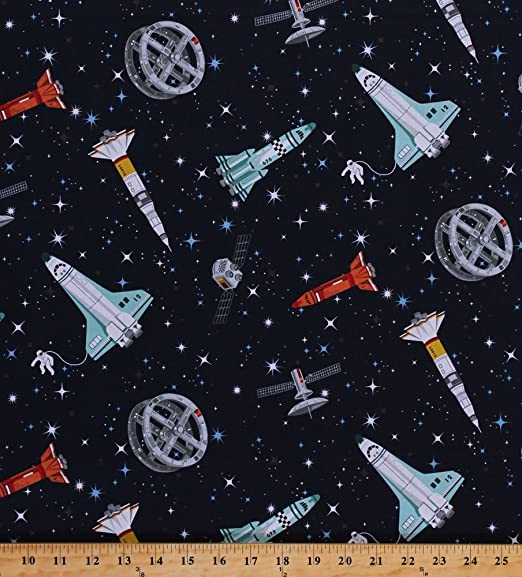 Fabric Cushion Upholstery Craft Quilting Panel Astronaut Space
