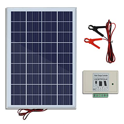 Amazon.com : ECO-WORTHY 20W 12V IP65 Solar Panel Kit: 20W Off Grid on off grid lighting, off grid air conditioning, off grid electrical systems, off grid blueprints, off grid tools, off grid battery,