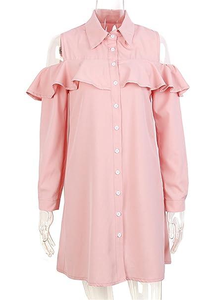 Image Unavailable. Image not available for. Color  Sexy Off Shoulder Long  Ruffles Sleeve Shirt Dress Women Plus Size Autumn Short Black Dresses 90s 6d618c7c0c55
