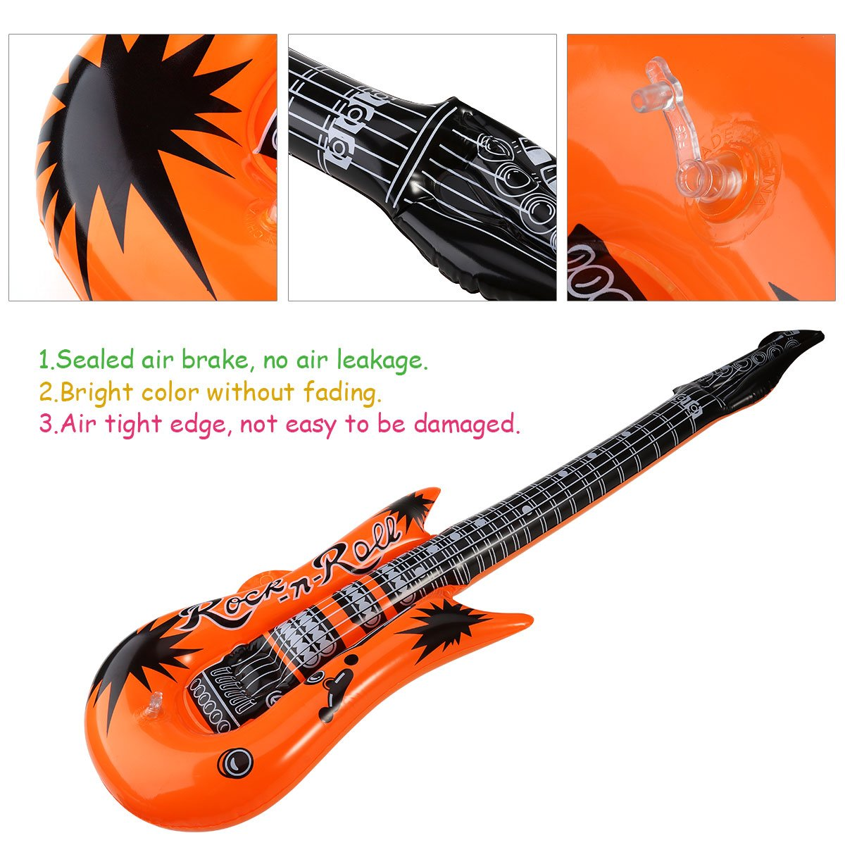 Amazon.com: TOYMYTOY Inflatable Toy Guitar Foil Balloon Rock Instrument Mylar Balloons for Party Decoration Pack of 6 (Random Color): Toys & Games
