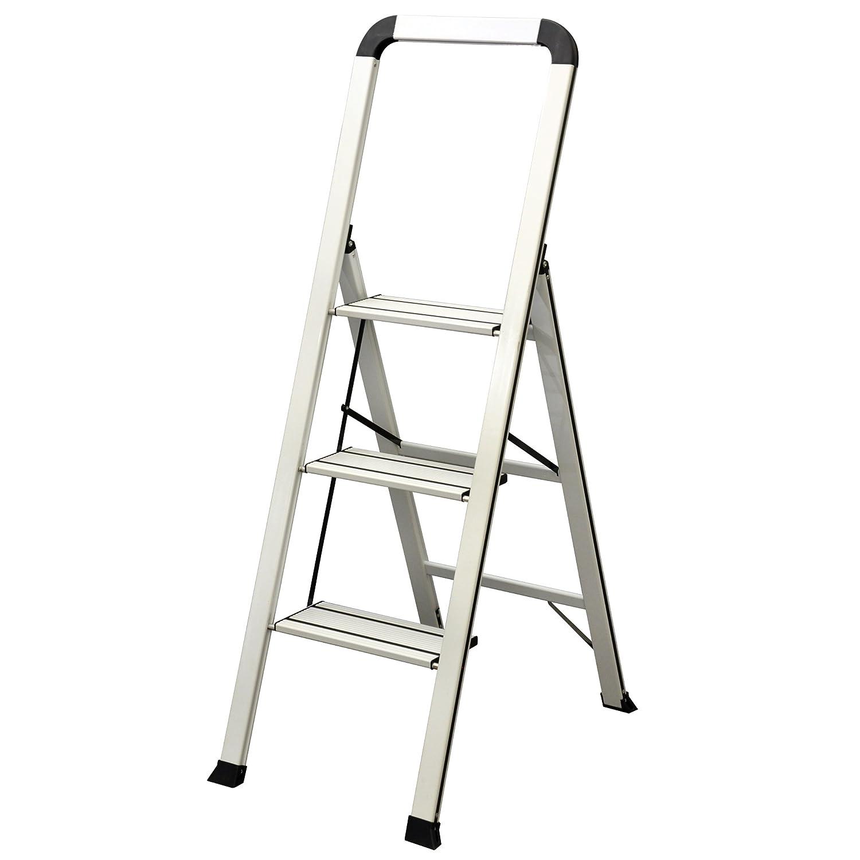 Ascent ADS3-001-WH Series Aluminum 3 Designer Step Stool, White