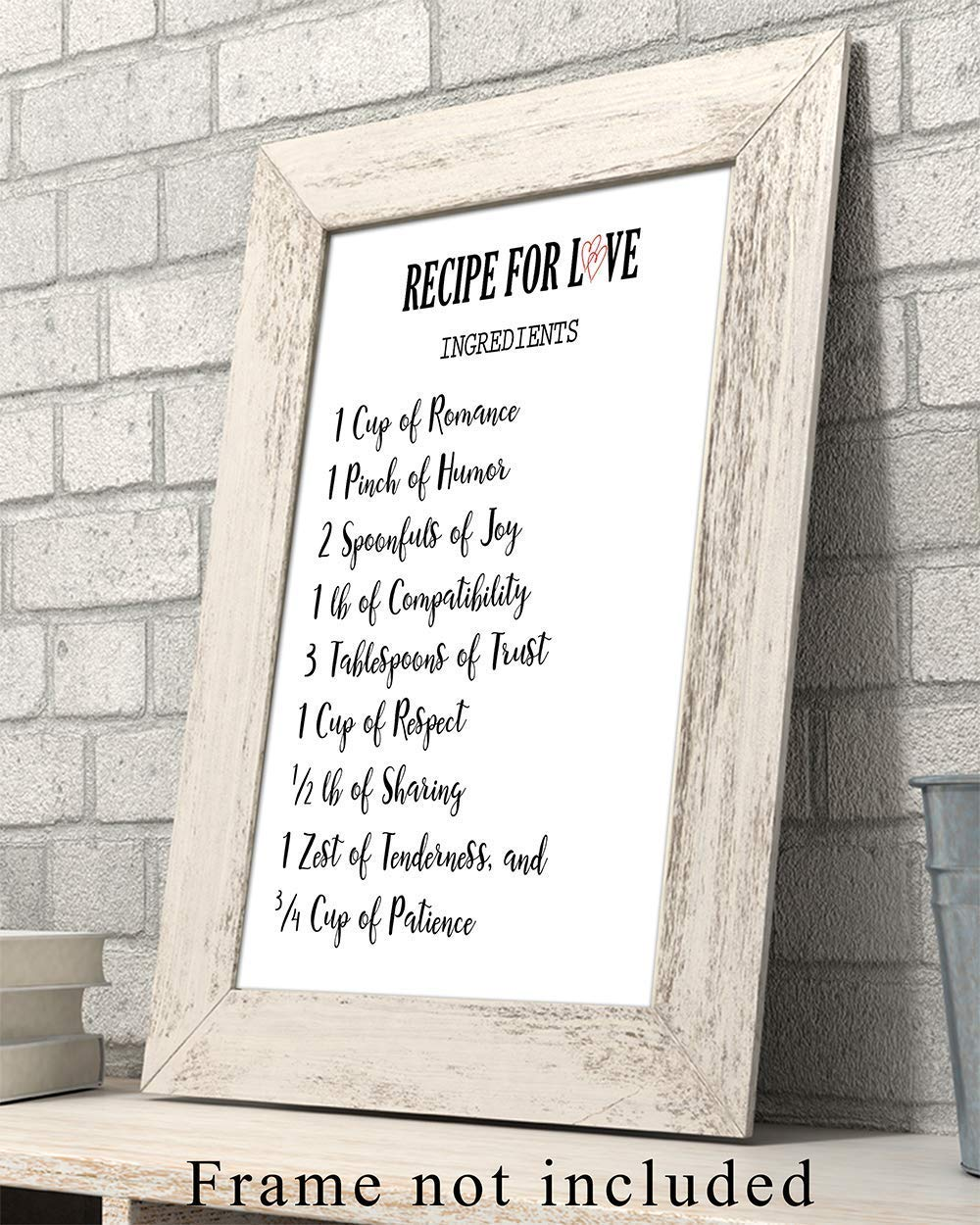 8x10 UNFRAMED Photo Inspirational Typography Wall Art Print Makes a Great Anniversary Chic Home Decor Valentines Day or Wedding Gift