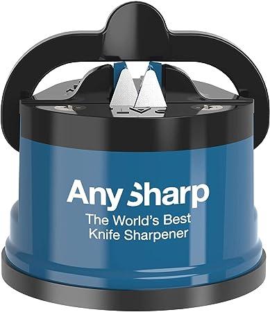 Afila cuchillos endurecidos (por ejemplo, Global, Sabatier) y cuchillos serrados (por ejemplo, cuchi