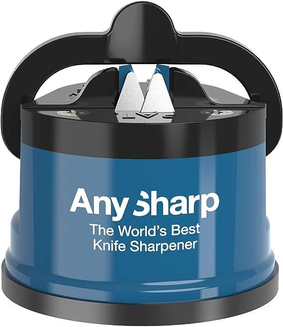 AnySharp Knife Sharpener with PowerGrip, Blue: Amazon.co.uk: Kitchen & Home