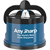 AnySharp Global Knife Sharpener with PowerGrip, Blue