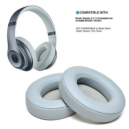 WADEO - Almohadilla de Repuesto para Auriculares Beats Studio 2.0 con Cable inalámbrico B0500/B0501