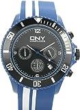 Complices - 260614 - Cny - Montre Homme - Quartz Analogique - Cadran Noir - Bracelet Plastique Bleu