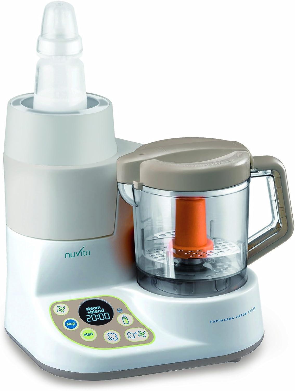 Nuvita nu-ppfp0001 Pappasana Vapor Combo 2-in-1 Mini Robot de cocina, cuocipappa a vapor y scaldobiberon: Amazon.es: Bebé