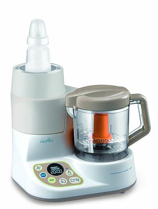 49 opinioni per Nuvita NU-PPFP0001 Pappasana Vapor Combo 2-In-1 Mini Robot da Cucina, Cuocipappa