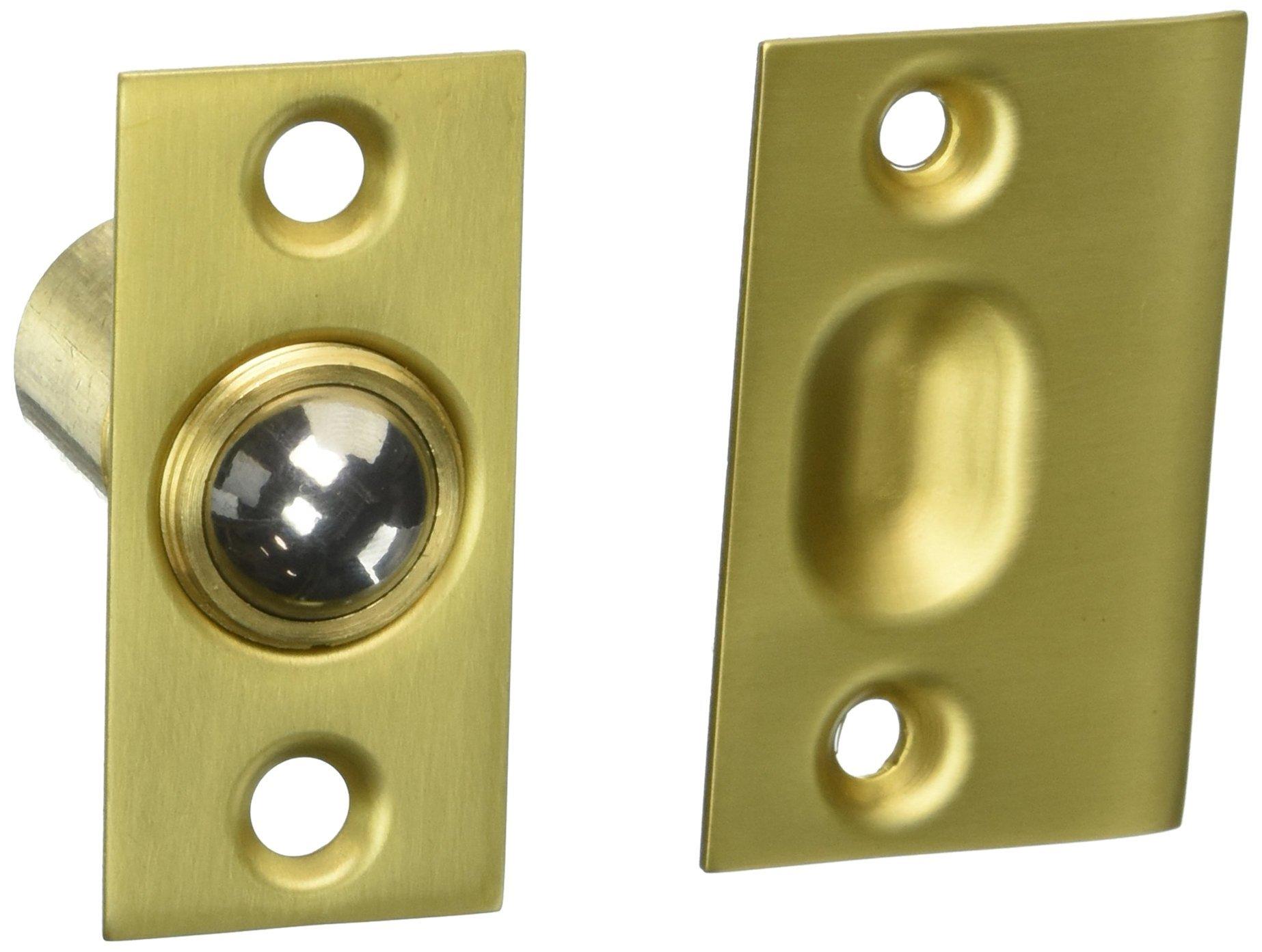 Baldwin 0426034 Adjustable Ball Catch, Unlacquered Vintage Brass
