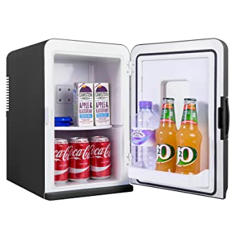 IceQ 15 Litre Deluxe Portable Mini Fridge With Window   Black