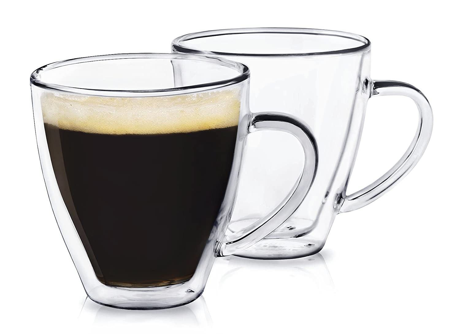 Dragon Glassware Espresso Cups, 6-Ounce Double Wall Insulated Glasses, Gift Boxed - Set of 2 DGW3