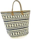 Womens Summer Aztec-Print Canvas Design Beach-Pool-Swim-Tote-Shopping Large Bag