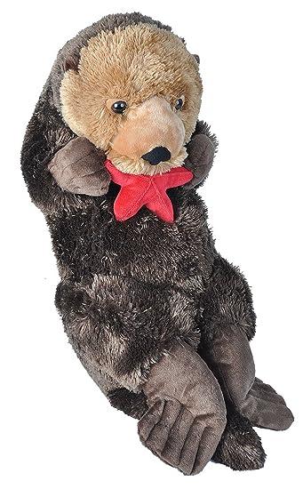 Amazon Com Wild Republic Jumbo Sea Otter Plush Giant Stuffed
